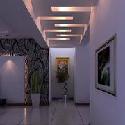 暖色系走廊灯饰设计
