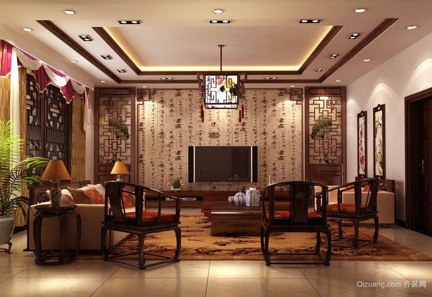 值得一试的舒适中式客厅装修效果图素材大全