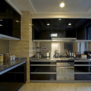 黑色经典厨房装修