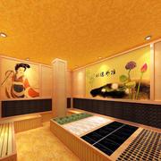 汗蒸房背景墙设计
