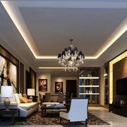 深色石膏线客厅装饰