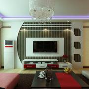 石膏板电视背景墙设计