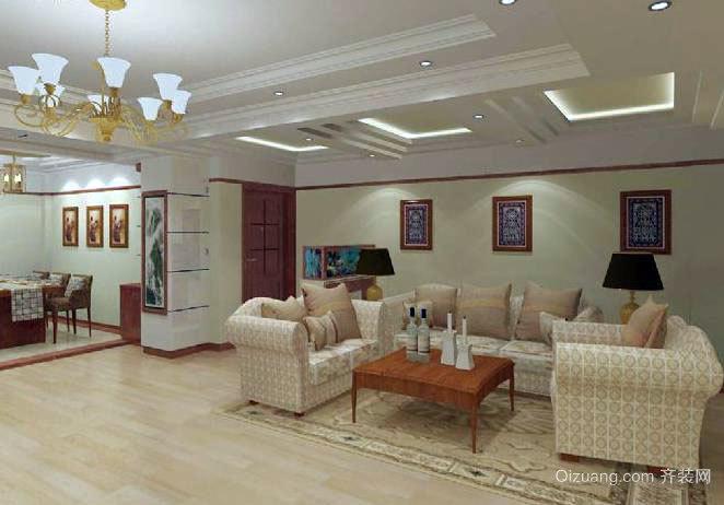 风格不一时尚靓丽的别墅客厅装修效果图展示