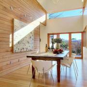 餐厅木制背景墙设计