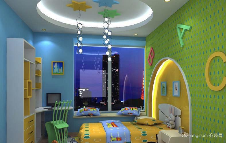 缤纷彩色的儿童房间装修效果图大全