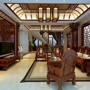 中式客厅桌椅