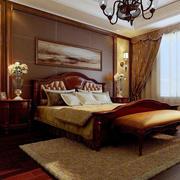 美式卧室吊顶灯饰效果图