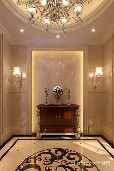 美式豪华别墅玄关装修效果图一览