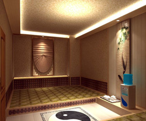 180平米大众浴池韩式风格汗蒸房装修效果图