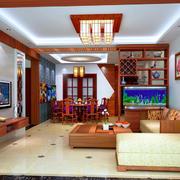 中式客厅吊灯装修