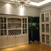 浪漫气质的纯色酒柜效果图
