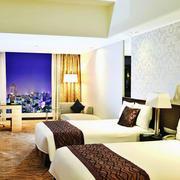 酒店装修双人卧室效果图