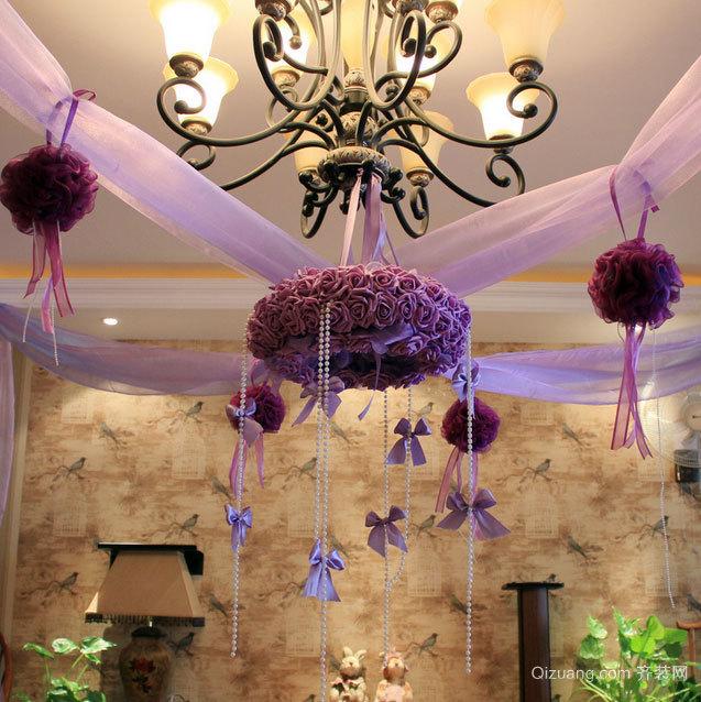 充满浪漫风格的新人婚房布置图片素材欣赏