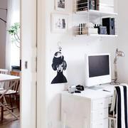 公寓书房电脑桌效果图