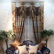 华丽欧式窗帘设计