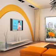 暖色电视柜背景墙设计