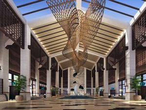 豪华大气:大型酒店大堂装修设计效果图一览