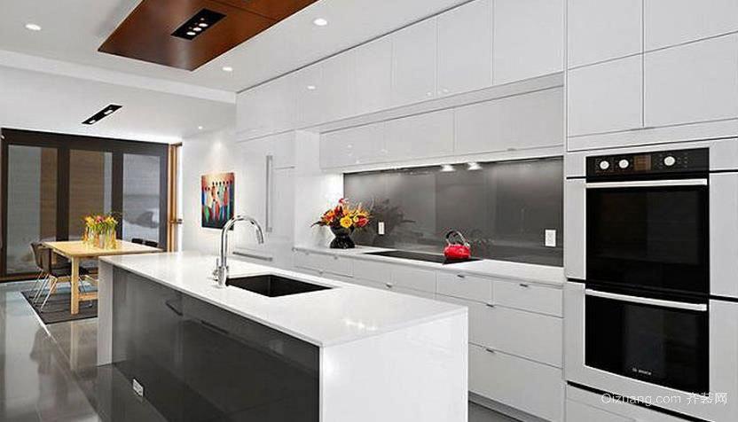 两室一厅大户型开放式厨房装修效果图展示