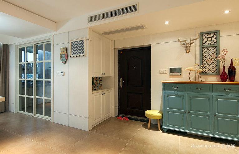 温暖的混搭风格两室一厅装修效果图