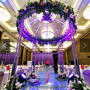 紫色浪漫色调婚礼现场