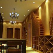 奢华酒窖带桌椅的设计
