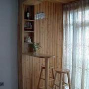 日式原木吧台设计