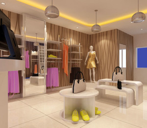 80平米精美欧式服装店装修效果图设计