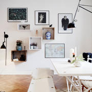 公寓客厅简约照片墙