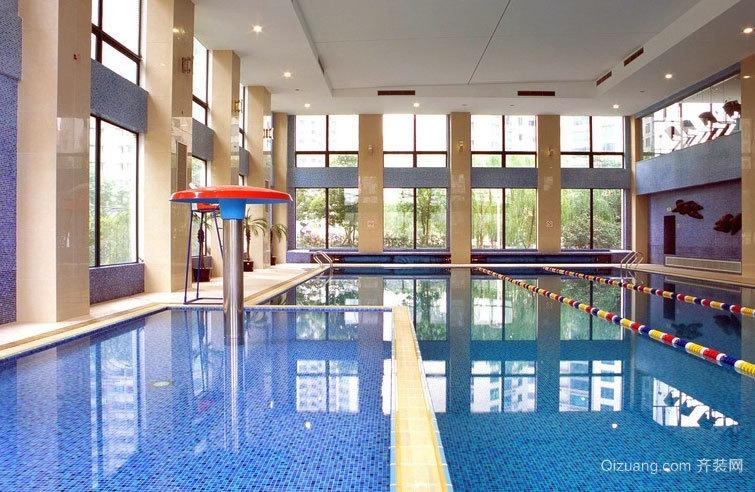 2015小区大型简约成人游泳馆装修效果图