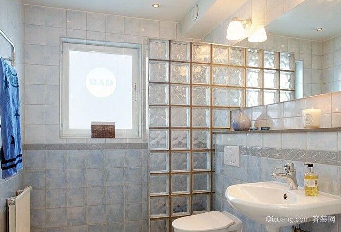 专为两室一厅设计的小卫生间装修效果图