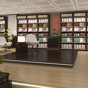 现代简约风格书店书架