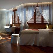 带有飘逸飘窗设计的美容院spa屋