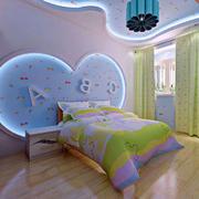 儿童房床头背景墙设计