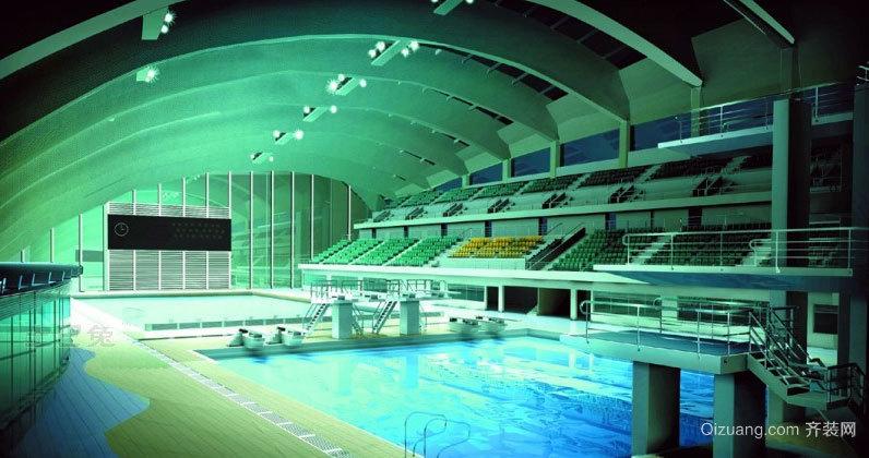 水特别清游泳馆设计装修效果图