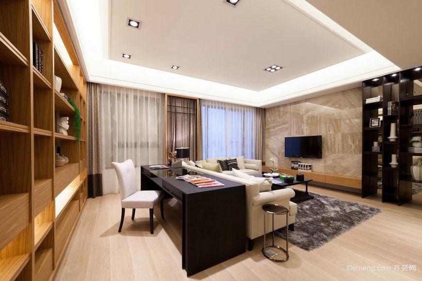 有种知性美的两室一厅室内装修设计效果图