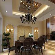 拱形餐厅背景墙设计