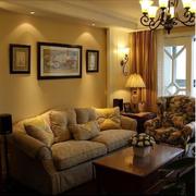 客厅样板房沙发效果图
