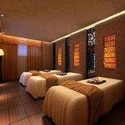 暖色美容院spa床