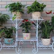 美式复古勾勒铁艺花架