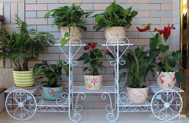约家居小阳台 铁艺 花架装修 效果图 齐装高清图片