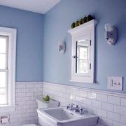 浅色卫生间瓷砖装修