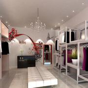 服装店吊顶灯饰设计
