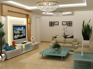 客厅石膏线灯饰图展示
