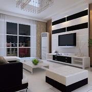 现代风格黑白电视柜装修