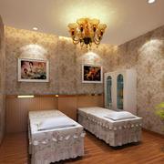 欧式精美田园风的美容院spa房
