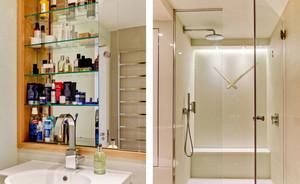 防止水流出去的卫生间玻璃隔断效果图