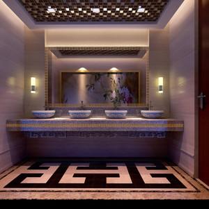 高级餐厅公共洗手间装修效果图
