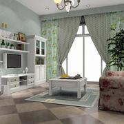 客厅田园风格电视柜装修