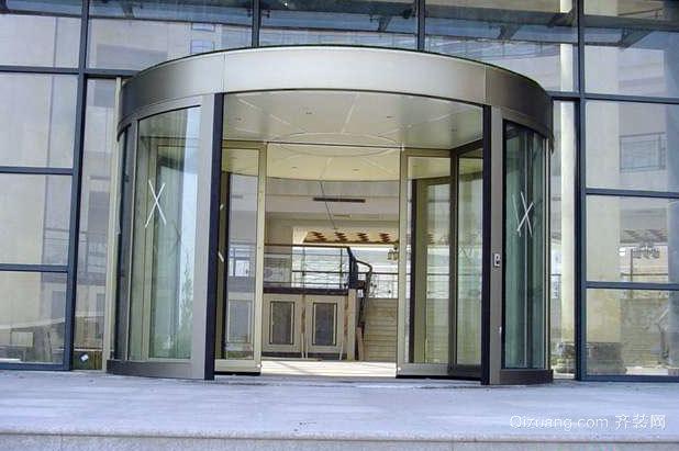 办公大楼自动两翼旋转门