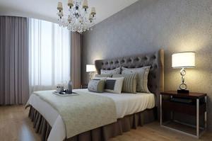 2015宜家风格卧室壁纸装修效果图